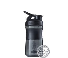 BLENDER BOTTLE Sportmixer 20oz/590ml - Black/Black