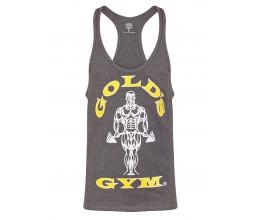 GOLD'S GYM 2018 Muscle Joe Premium Stringer Vest / Tank Top - GREY