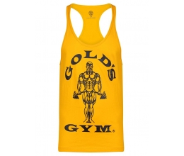 GOLD'S GYM 2018 Muscle Joe Premium Stringer Vest / Tank Top - GOLD
