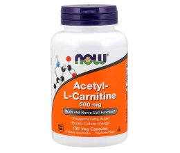 NOW FOODS Acetyl-L-Carnitine, 500mg - 100 vcaps (atsetüülkarnitiin)