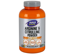 NOW FOODS Arginine & Citrulline - 340g