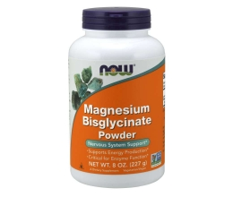 NOW FOODS Magnesium Bisglycinate Powder - 227g