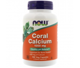 NOW FOODS Coral Calcium 1000mg x100Vcaps