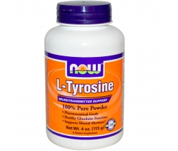 NOW FOODS LTyrosine 100% Pure Powder 113g - 282servings