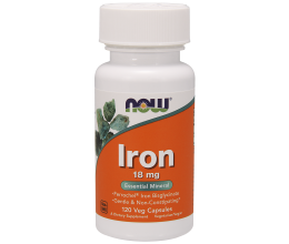 NOW FOODS Iron 18mg 120VCaps