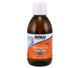 NOW FOODS Omega 3 Fish Oil Liquid 200ml Lemon