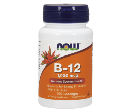NOW FOODS Vitamin B12 1000mcg - 100 lozenges