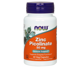 NOW FOODS Zinc Picolinate, 50mg - 60 VCapsules