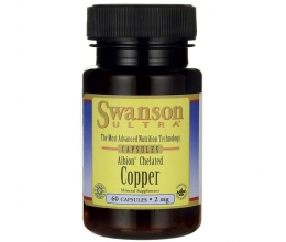 SWANSON Albion Chelated Copper, 2mg - 60 caps (vask)