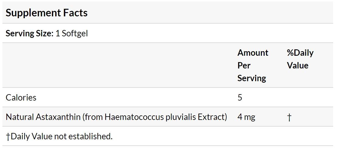 Резултат с изображение за NOW FOODS Astaxanthin 4 mg