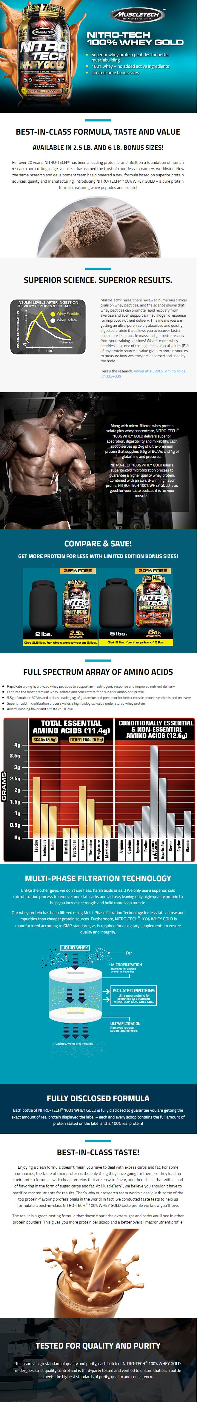 Muscletech Nitro Tech 100 Whey Gold 6 Lb 2721g Ifit Nitrotech Description Comments Koostis Kasutamine