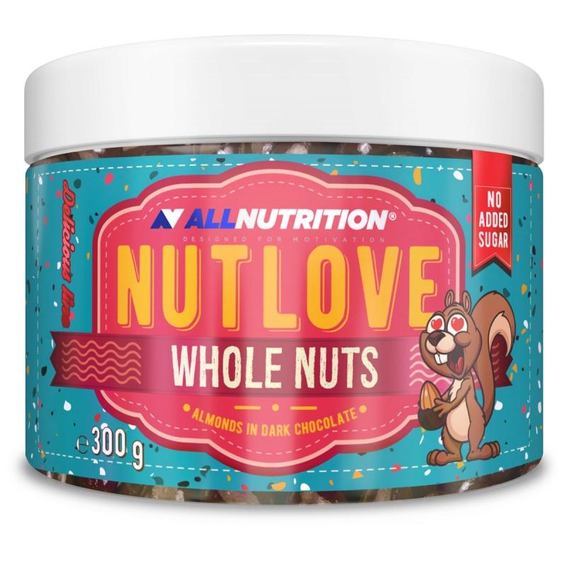 ALLNUTRITION NUTLOVE Whole Nuts 300g Almonds in Dark Chocolate