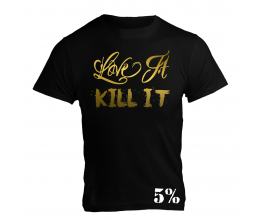 5% NUTRITION Apparel 5% Men´s T-Shirt Black/Gold