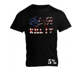5% NUTRITION Apparel 5% Men´s T-Shirt Black/US Flag (#49) - L