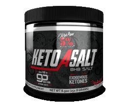 5% NUTRITION Keto aSALT with goBHB Salts 252g Cherry Limeade