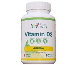 A to Z Pure Health Vitamin D3 4000iu x 60 Softgels