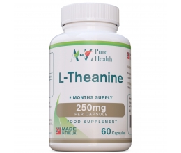 A to Z Pure Health L-Theanine 250mg 60 Caps. (L-teaniin)