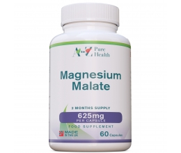 A to Z Pure Health Magnesium Malate 625mg 60 Caps.