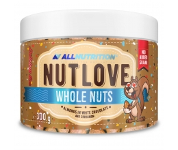 ALLNUTRITION NUTLOVE Whole Nuts 300g Almonds in White Chocolate & Cinnamon