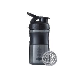 BLENDER BOTTLE Sportmixer 20oz/590ml - Black/Black