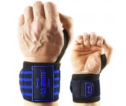 CP SPORTS Strongman Wrist bandages 50cm (T20-1) Must/Sinine