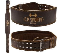 CP SPORTS Weight Lifting belt Leather (BROWN) T4