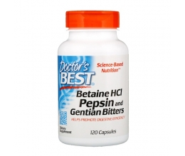 DR´S BEST Betaine HCl Pepsin & Gentian Bitters - 120 caps