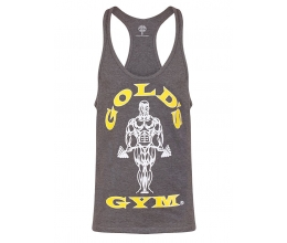 GOLD'S GYM 2018 Muscle Joe Premium Stringer Vest / Tank Top - GREY