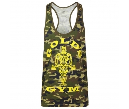 GOLDS GYM Stringer Joe Camo (Green) GGVST051