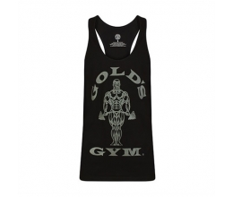 GOLDS GYM Stringer Vest Joe Tonal (Black/Charcoal Marl) GGVST010