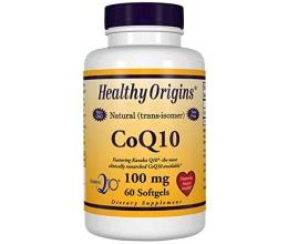 HEALTHY ORIGINS CoQ10, 100mg 60Softgels (Koensüüm Q10)