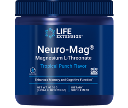 LIFE EXTENSION Neuro-Mag Magnesium L-Threonate 93.35g Tropical Punch