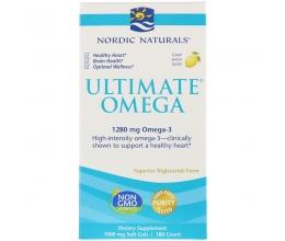 NORDIC NATURALS Ultimate Omega 1280mg - 60 softgels Lemon