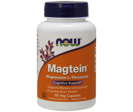 NOW FOODS Magtein Magnesium L-Threonate - 90 vcaps (Magneesium L-treonaat)