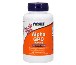 NOW FOODS Alpha GPC 300mg - 60 vcaps