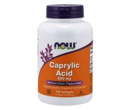 NOW FOODS Caprylic Acid, 600mg - 100 softgels