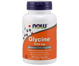 NOW FOODS Glycine 1000mg - 100 vcaps (glütsiin)