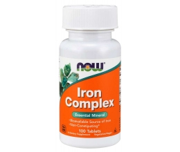 NOW FOODS Iron Complex (27mg) - 100 tablets