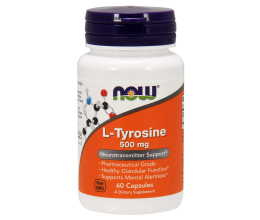 NOW FOODS L-Tyrosine, 500mg - 60 caps