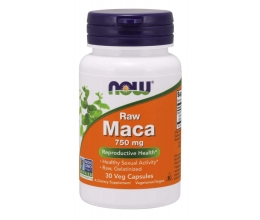 NOW FOODS Maca 6:1 Concentrate, 750mg RAW - 30 vcaps