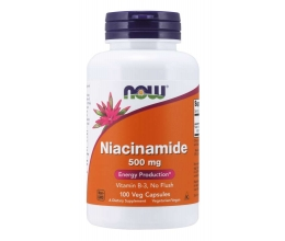 NOW FOODS Niacinamide(B3/No Flush) 500mg - 100 caps (Niatsiinamiid)