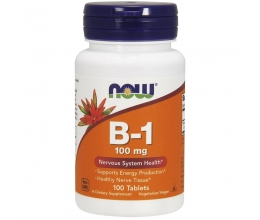 NOW FOODS Vitamin B-1 Thiamine 100mg - 100 tab