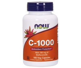 NOW FOODS Vitamin C-1000 with 100mg Bioflavonids - 100 vcaps