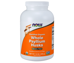 NOW FOODS Whole Psyllium Husks Powder - 340 grams