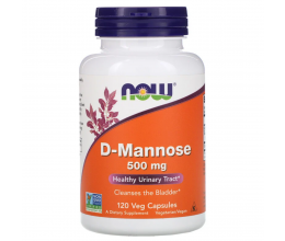 NOW FOODS D-Mannose 500mg - 120vcaps