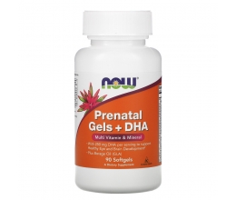 NOW FOODS Prenatal Gels + DHA - 90 softgels