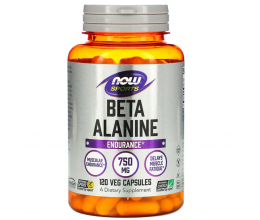 NOW FOODS Beta Alanine 750mg - 120 veg caps