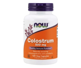 NOW FOODS Colostrum 500mg - 120 vcaps (Ternespiim)