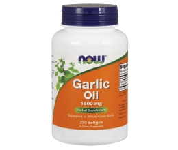 NOW FOODS Garlic Oil, 1500mg - 250 softgels