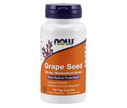 NOW FOODS Grape Seed Standardized Extract 100mg - 100 vcaps